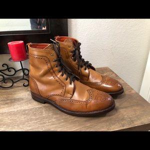 Allen Edmonds 'Dalton' Cognac/Tan Leather Boots